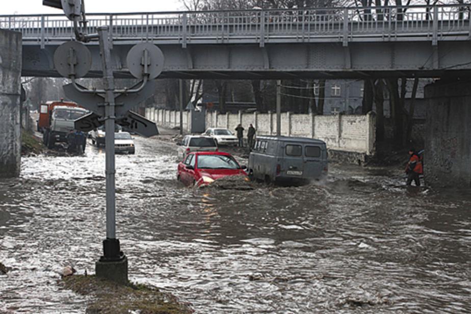Калининградцы стали заложниками наводнения - Новости Калининграда