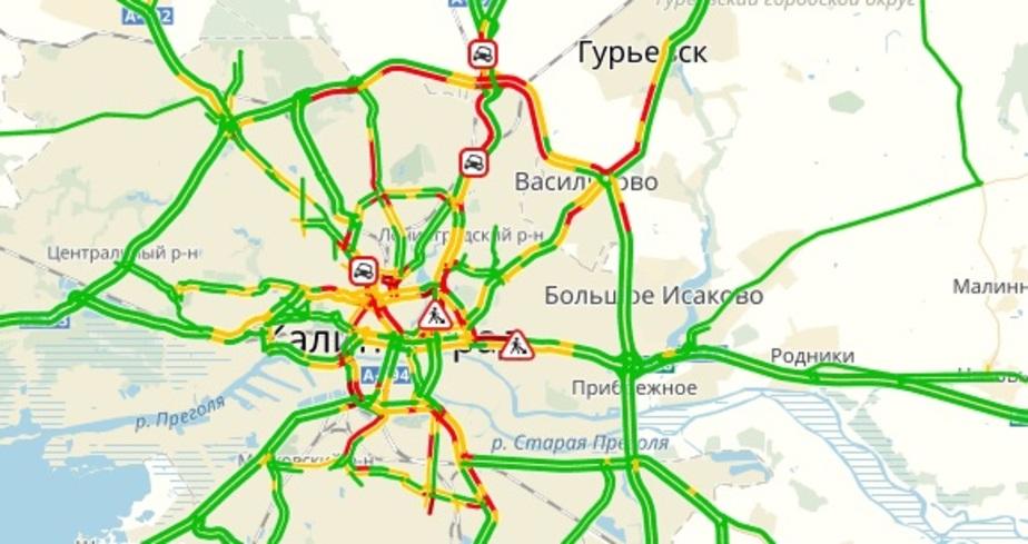 Фото: скриншот Яндекс.пробки