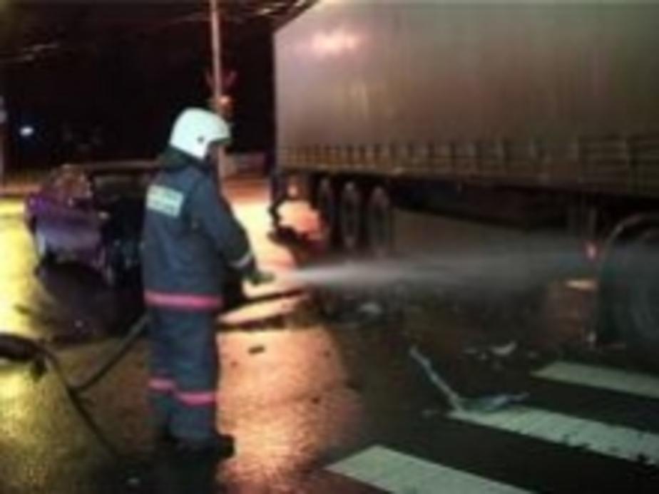 Ночью произошла авария на площади Победы - Новости Калининграда