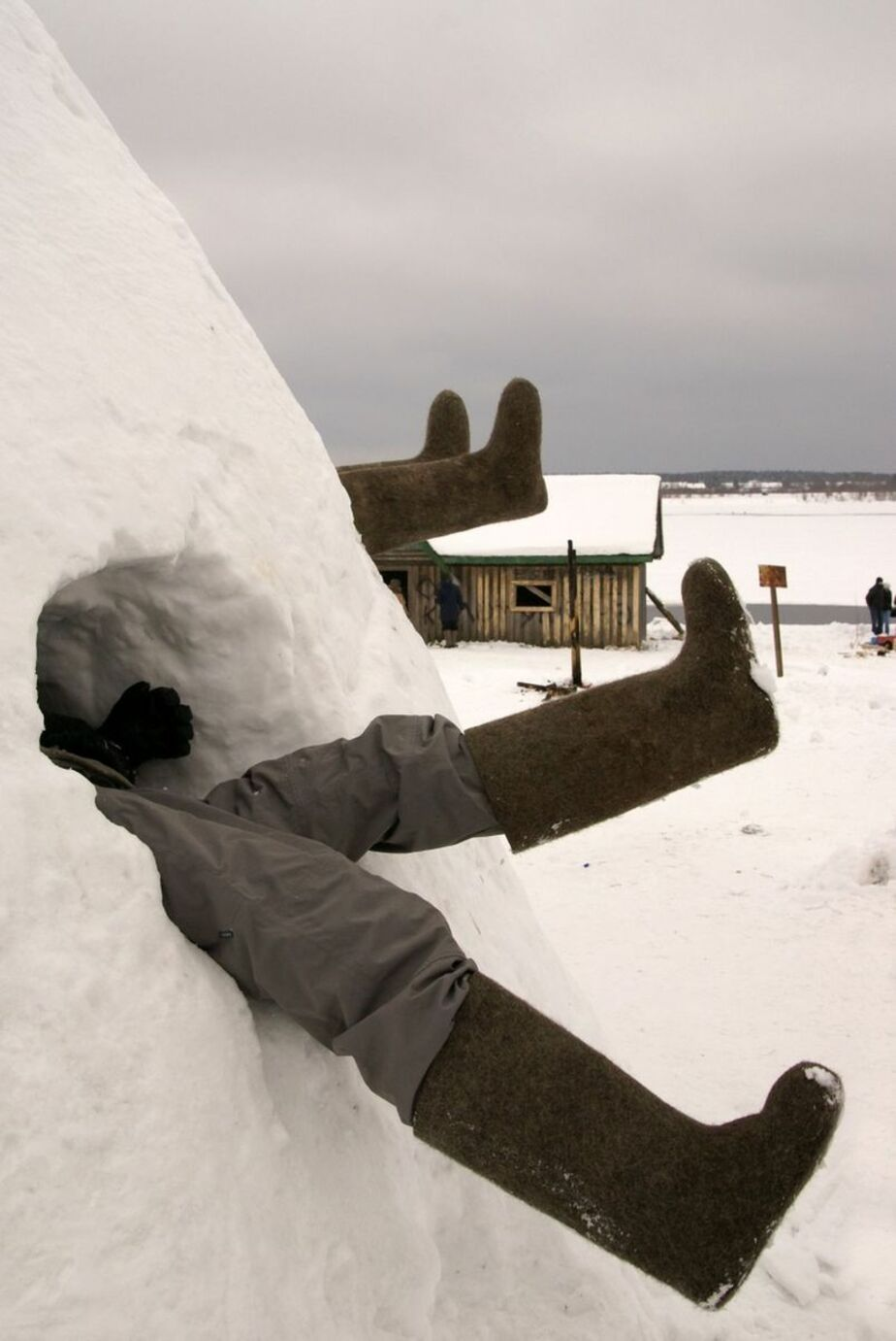 Калининград обошел всю Россию и Европу по высоте сугробов - Новости Калининграда