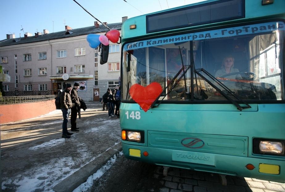 По улицам Калининграда курсирует троллейбус любви - Новости Калининграда