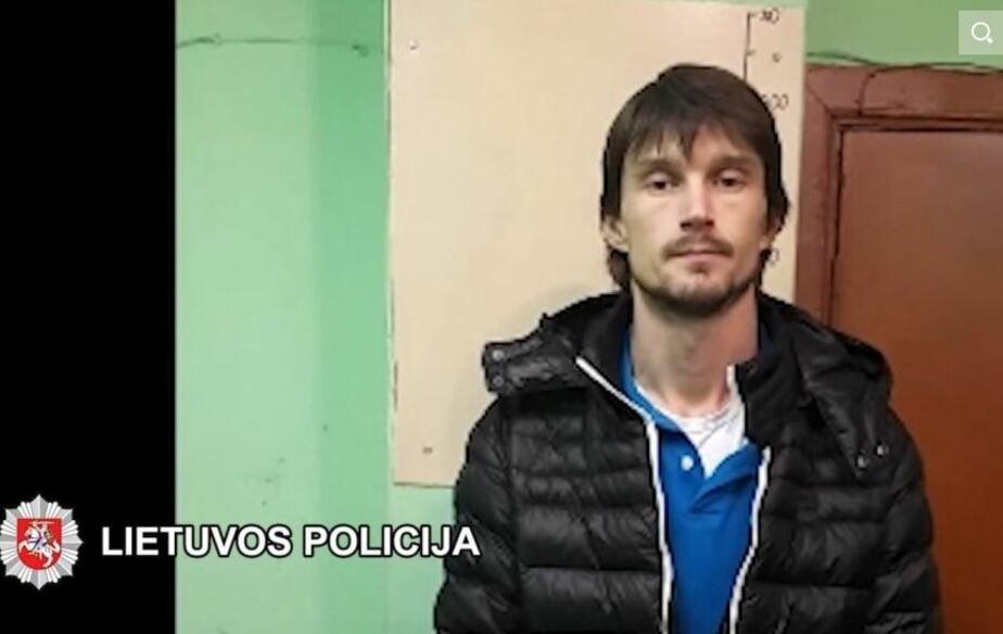 Кадр видеозаписи пресс-службы полиции Литвы