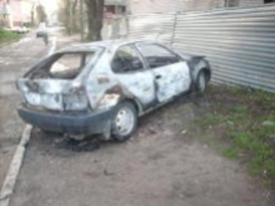 На улице Оз-рная сгорела машина - Новости Калининграда