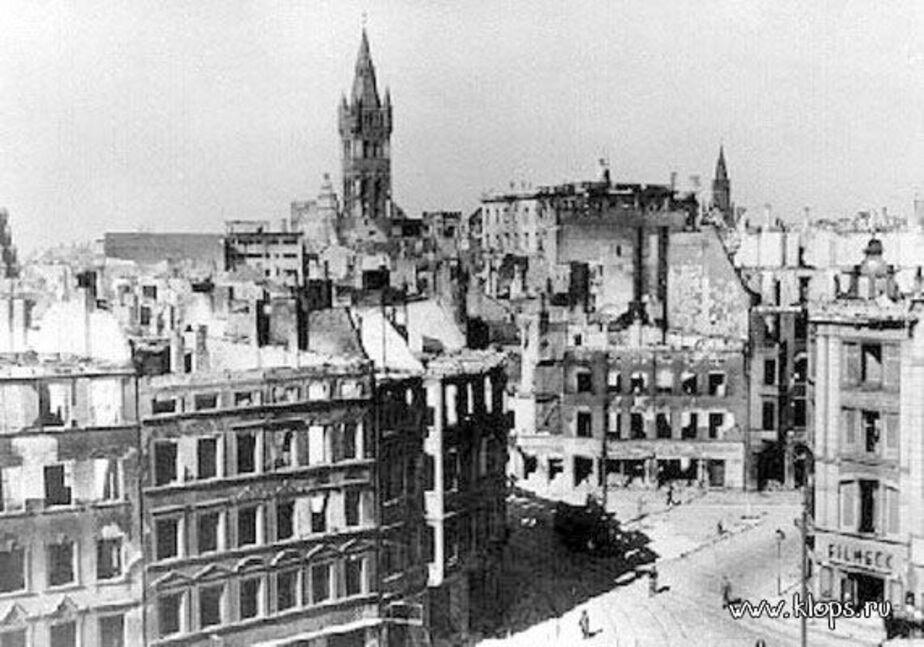 К-нигсберг после английской бомбардировки 1944 года - Новости Калининграда