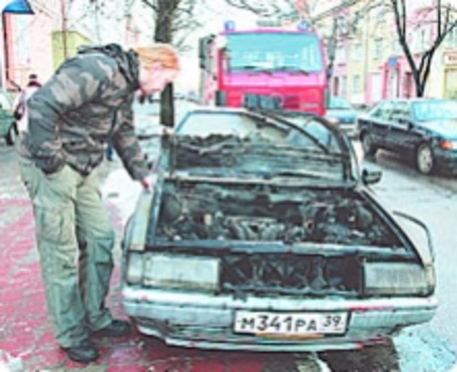 Фотофакт: Легковушка едва не взорвалась - Новости Калининграда