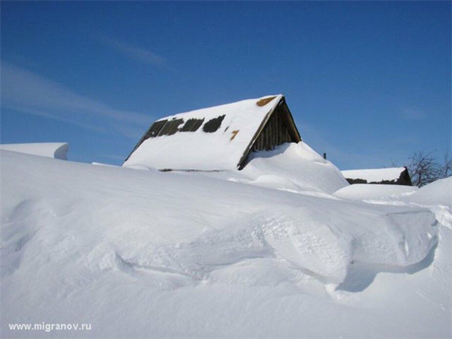 Поселок под Калининградом оказался в снежном плену - Новости Калининграда
