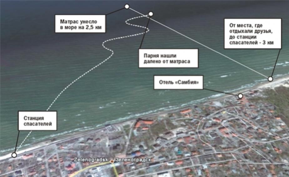 Человека на матрасе в море заметили случайно - Новости Калининграда