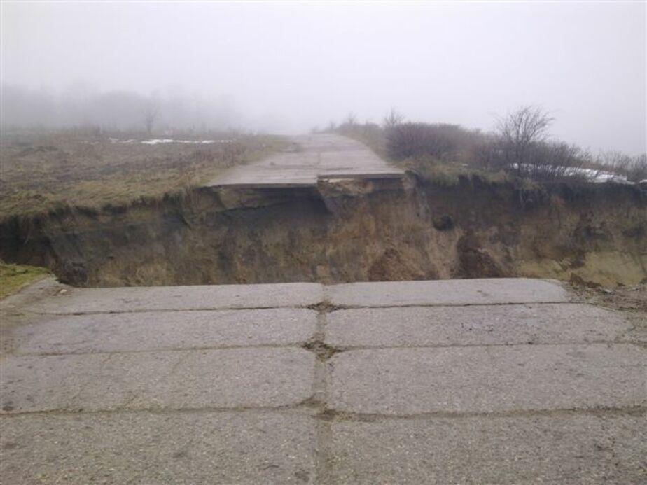 Под Светлогорском обрушилась дорога к морю - Новости Калининграда