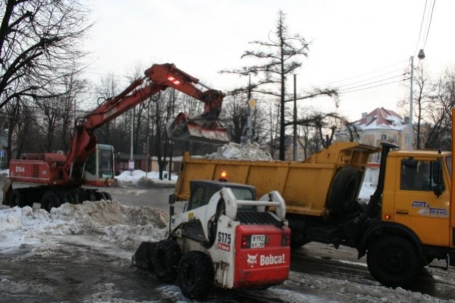 Мухомор- Все предприятия в первую декаду января убирали снег практически круглосуточно - Новости Калининграда