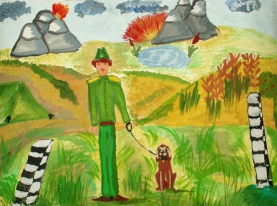 Голосуйте за детские рисунки пап-защитников- - Новости Калининграда