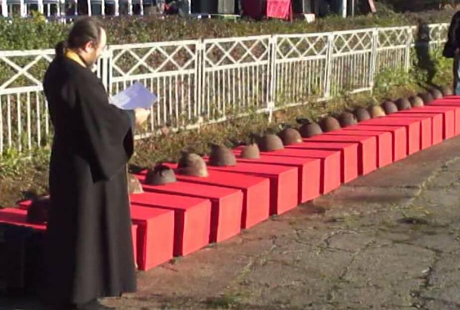 Под Калининградом торжественно перезахоронили останки 33 советских солдат - Новости Калининграда