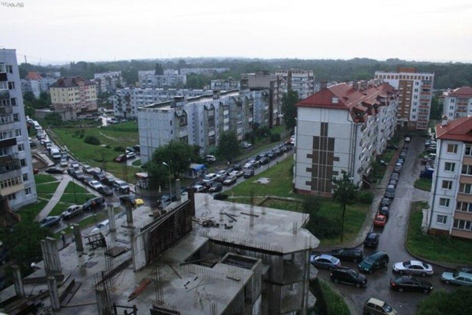 Большая пробка в Балтийске - Новости Калининграда