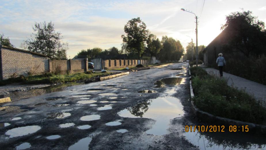 Разбитую дорогу на ул- Чапаева в Советске начнут восстанавливать не раньше мая - Новости Калининграда