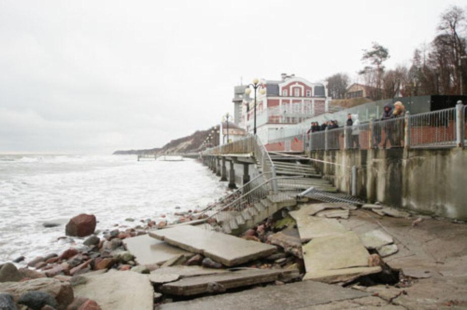 Последний шторм нанес урона на 50 млн руб. - Новости Калининграда