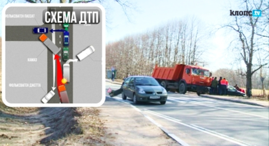 На мамоновской трассе крупная авария- столкнулись грузовик- маршрутка и три автомобиля - Новости Калининграда