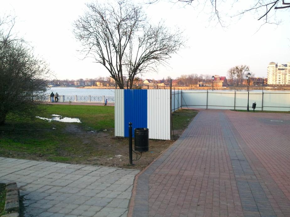 Загородили проход на верхнее озеро - Новости Калининграда
