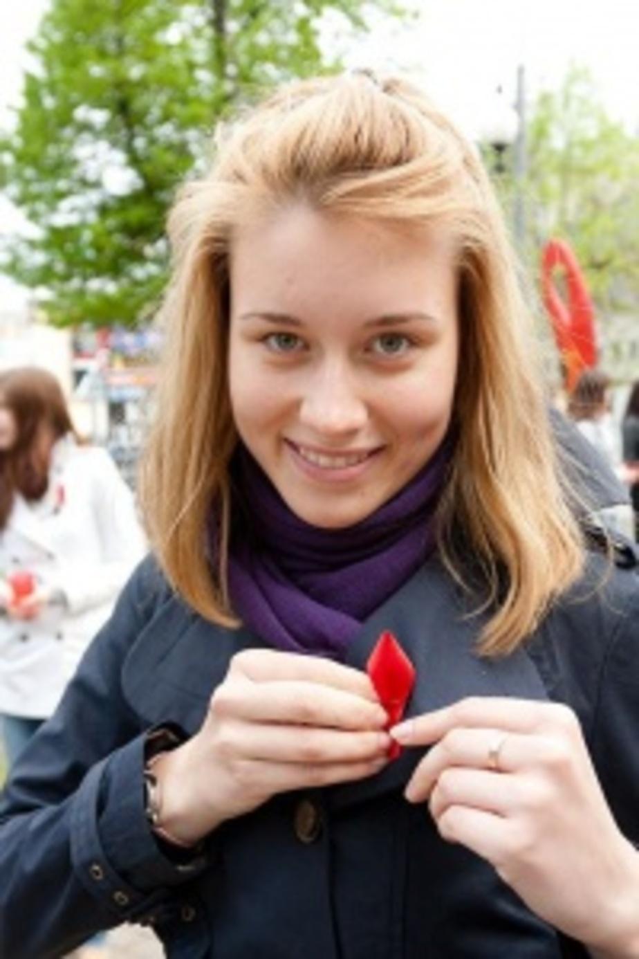 В Калининграде волонтеры раздадут 1000 красных ленточек