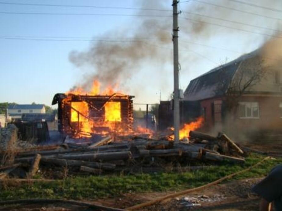 Под Гурьевском в строящемся доме при пожаре погиб мужчина