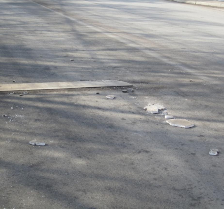 В Калининграде на улице Нарвской разрушаются шумовые полосы - Новости Калининграда