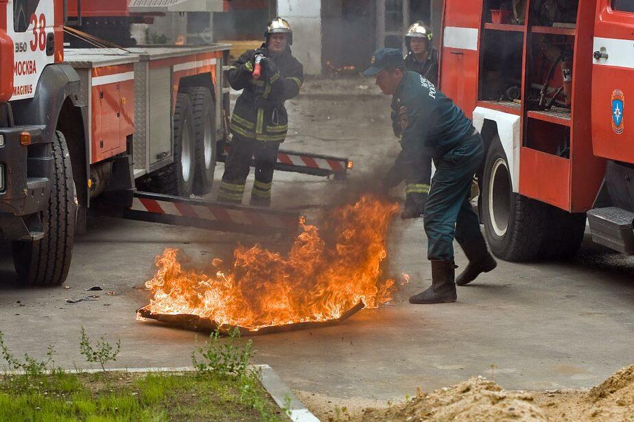 В Донском при пожаре пострадала женщина - Новости Калининграда