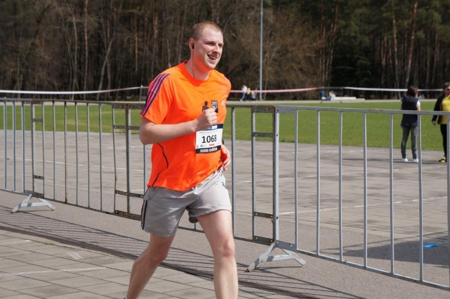 Спортсмен-любитель из Калининграда принял участие в Вильнюсском полумарафоне