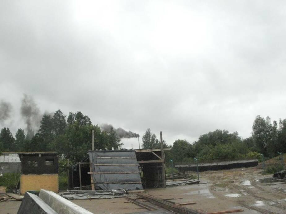 Полесск накрыло едким дымом из-за работы асфальтового завода - Новости Калининграда