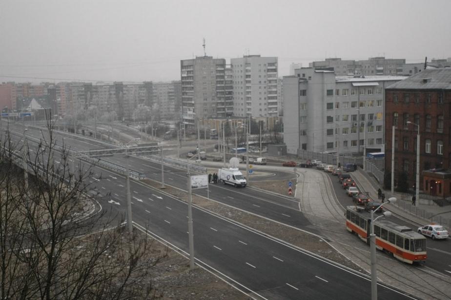 ГИБДД- На съезде со Второй эстакады образовалась пробка - Новости Калининграда