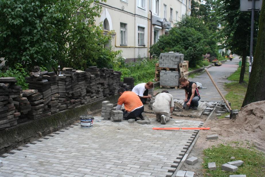 Бизнесмены неохотно берут бесплатную тротуарную плитку у горвластей - Новости Калининграда
