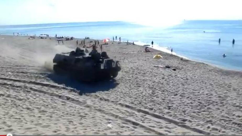 Танки на пляже - Новости Калининграда