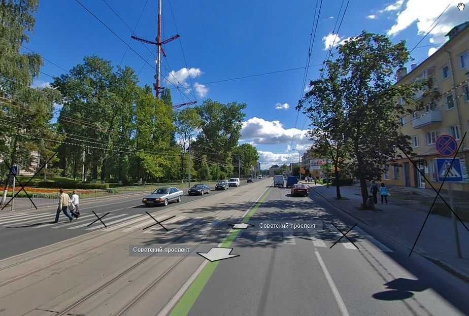 На Советском проспекте у школы -43 убрали пешеходный переход - Новости Калининграда