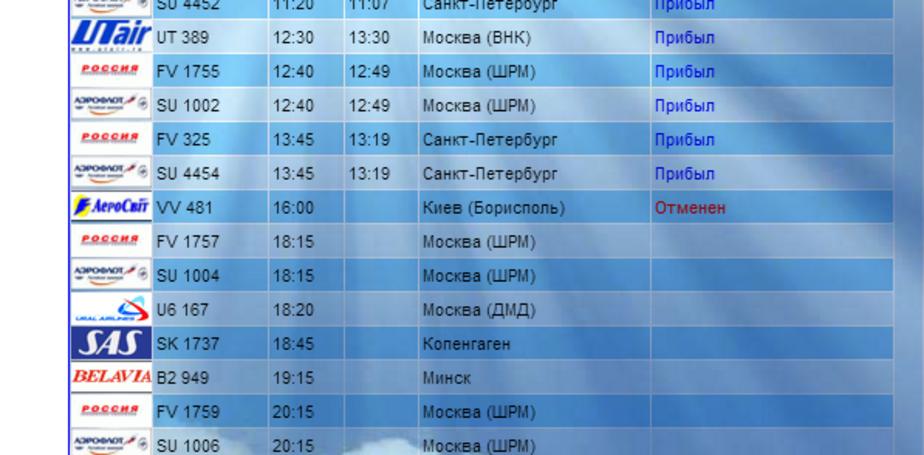 """Авиакомпания """"АэроСвит"""" отменила рейс до Калининграда - Новости Калининграда"""