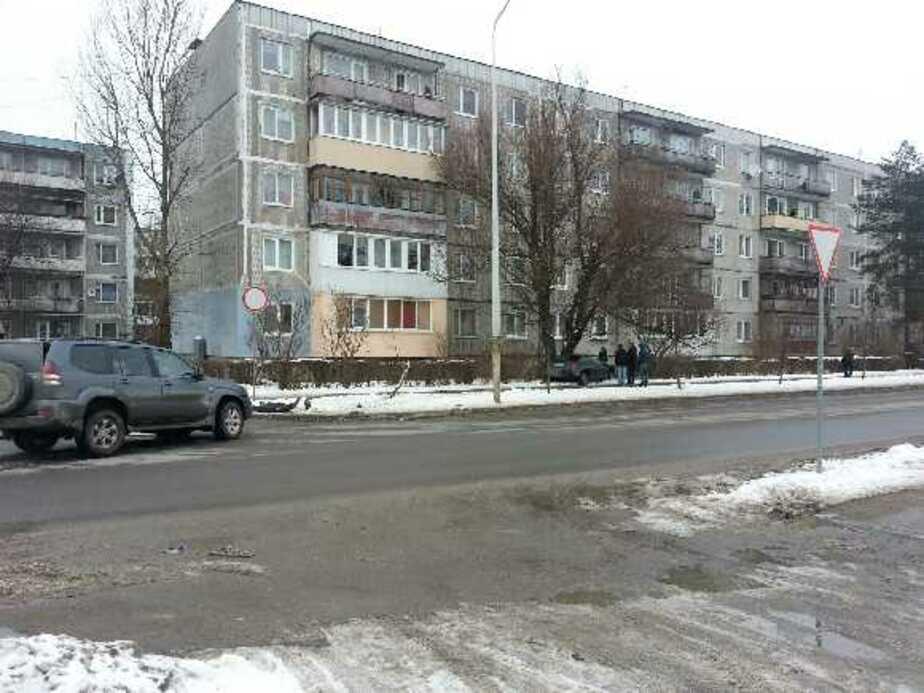"""В Калининграде """"Тойота"""" вылетела на тротуар и врезалась в дерево - Новости Калининграда"""