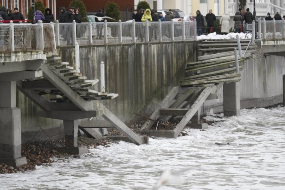 На ликвидацию последствий шторма на побережье требуется 35 млн- рублей