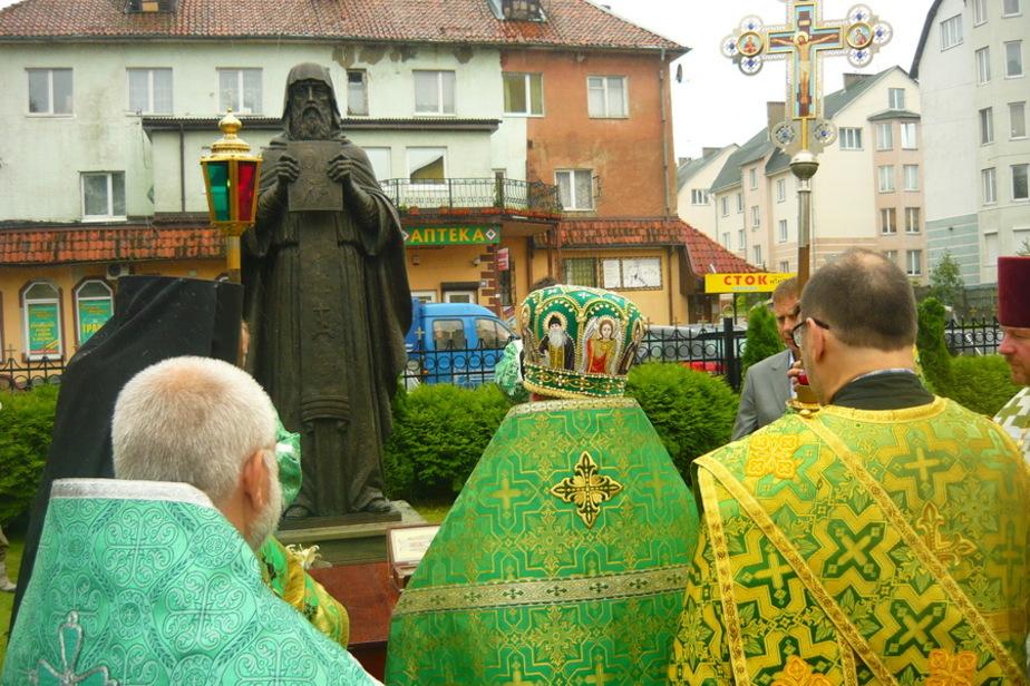 На Северной горе освятили памятник Герасиму Болдинскому - Новости Калининграда