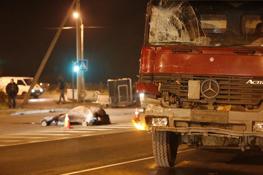 На окраине Калининграда столкнулись самосвал и микроавтобус- перевозивший лошадей- одно из животных погибло - Новости Калининграда