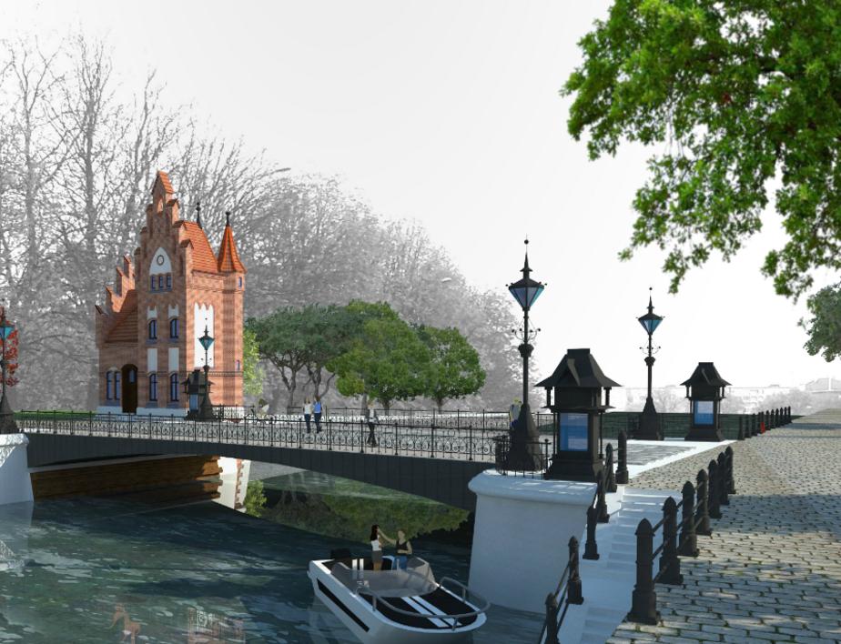 В Калининграде представили проект воссоздания Кузнечного моста - Новости Калининграда