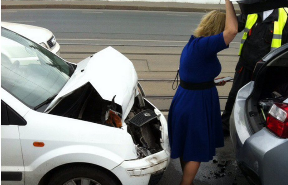 На эстакадном мосту в Калининграде столкнулись автомобили - Новости Калининграда