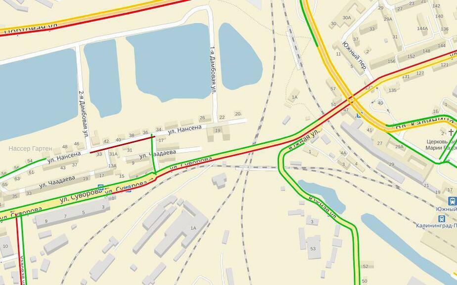В районе открытого во вторник моста на ул. Суворова образовались километровые пробки - Новости Калининграда