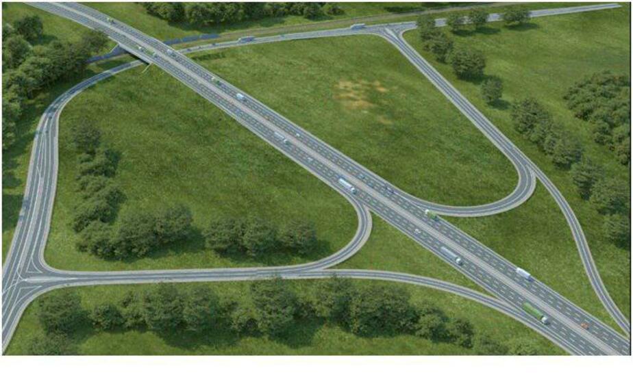К 2020 году возле Гурьевска построят двухуровневую развязку (фото проекта)