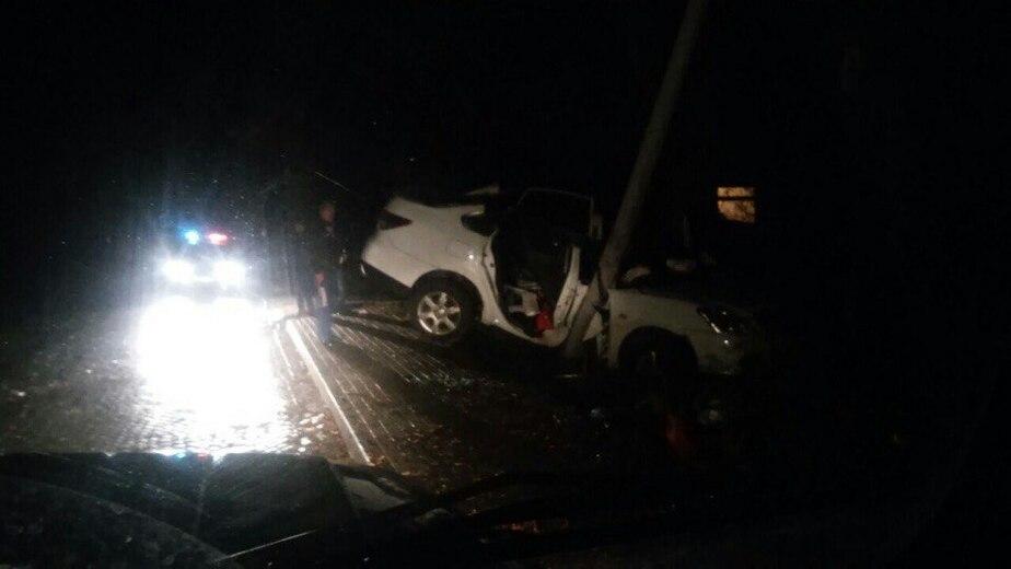 Под Калининградом машину занесло на скользкой дороге, погибла девушка