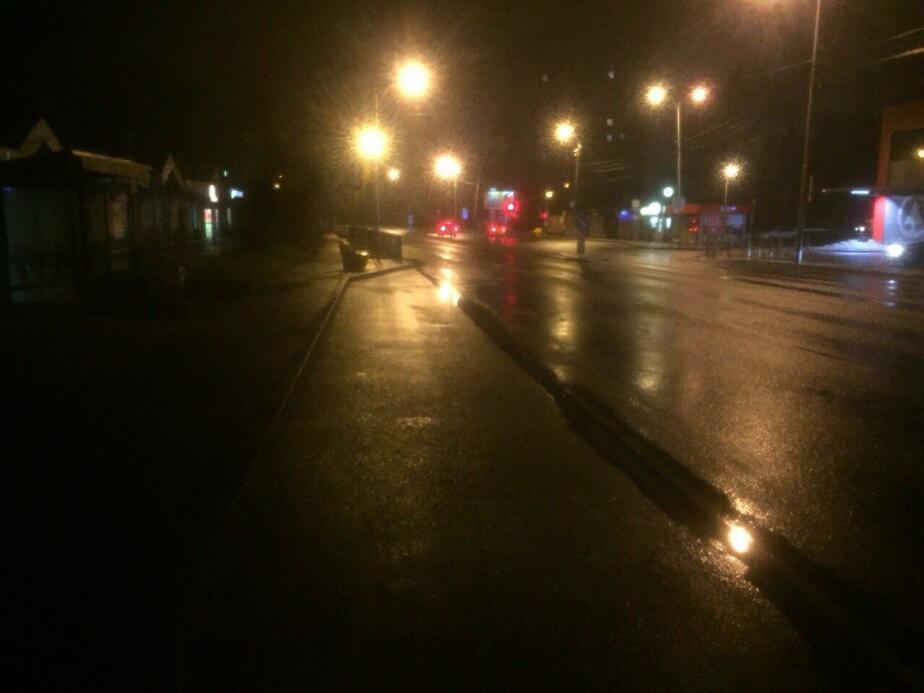 Место, где произошла авария / Фото: пресс-служба УМВД по Калининградской области