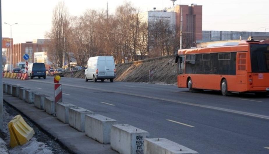 Из-за строительства Восточной эстакады на Моспроспекте закроют одну полосу движения  - Новости Калининграда