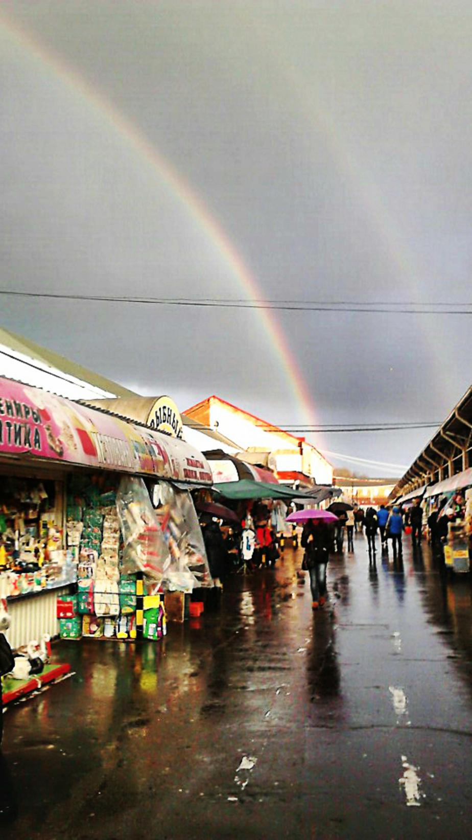 Над Калининградом заметили двойную радугу
