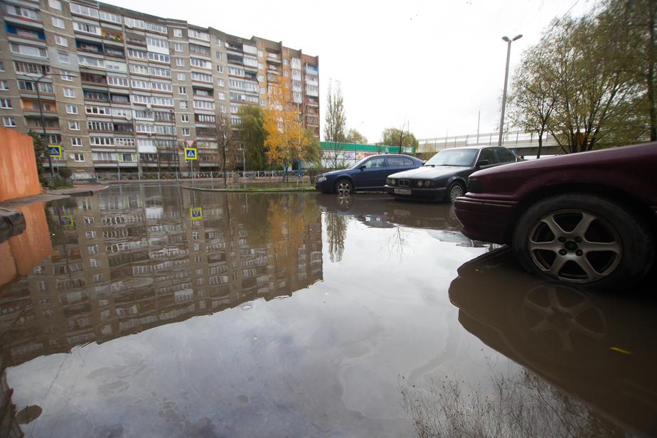 На Октябрьском острове начали строить очистные, в которые будет стекать вода с дорог - Новости Калининграда