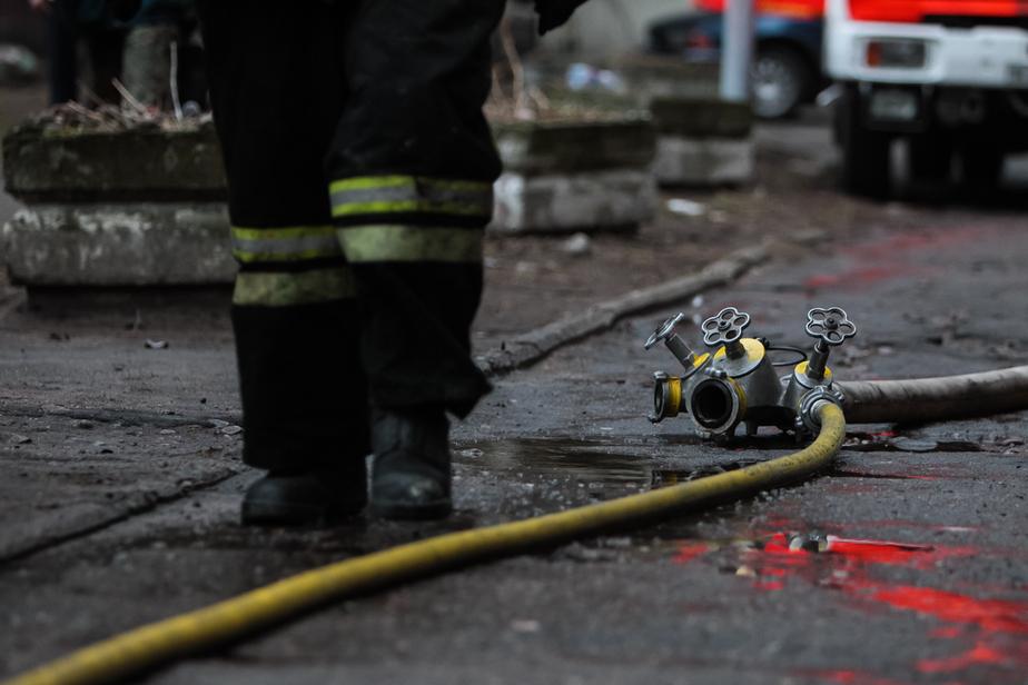 В Калининграде ночью сгорел экскаватор - Новости Калининграда