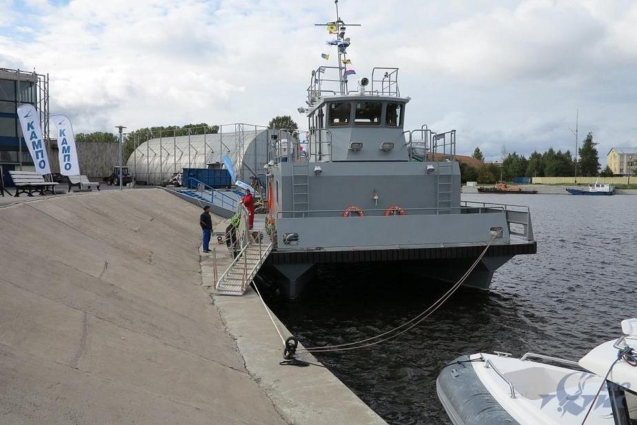 В Калининграде спустили на воду уникальный катер-трансформер  - Новости Калининграда