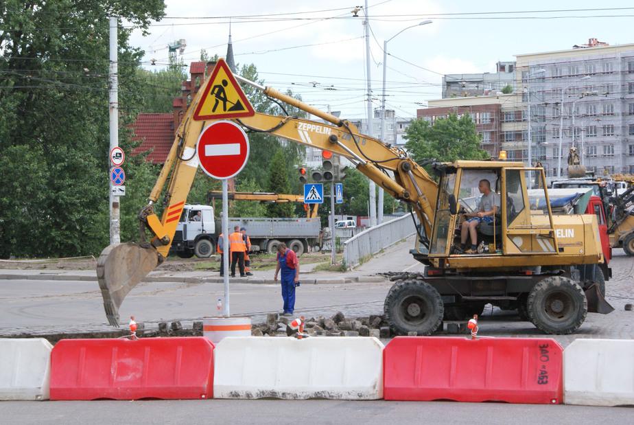 Пешеходы и водители запутались:  в Калининграде начался ремонт перекрёстка у Высокого моста - Новости Калининграда