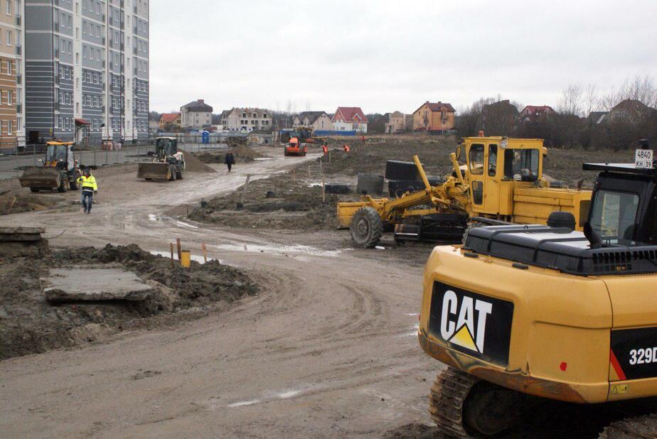 В Калининграде начали строить дорогу на ул. Маршала Жукова (фото)  - Новости Калининграда