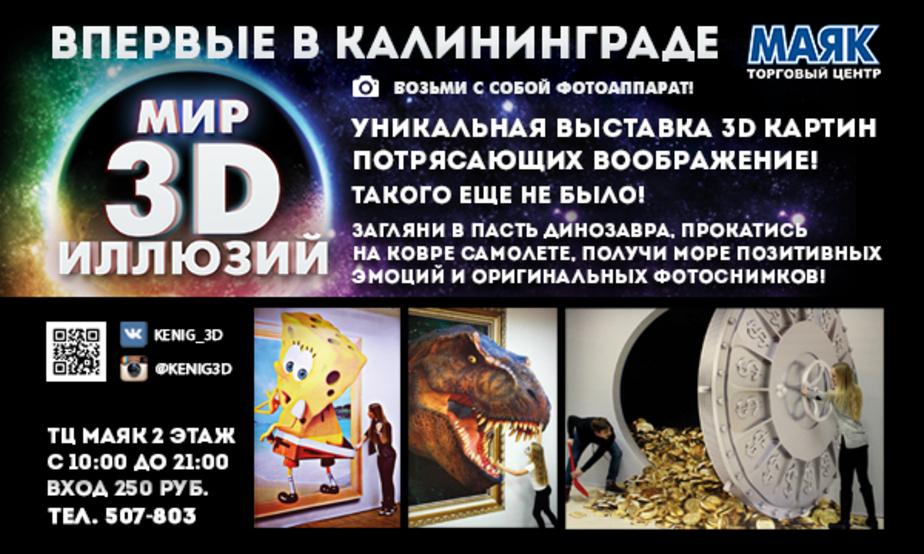 Впервые в Калининграде — выставка 3D иллюзий! - Новости Калининграда