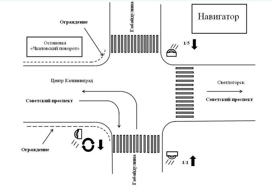 Калининградцы сами придумали, как разгрузить Чкаловский поворот - Новости Калининграда
